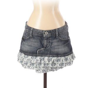 Guess Jeans Denim Skirt Ruffle Hem
